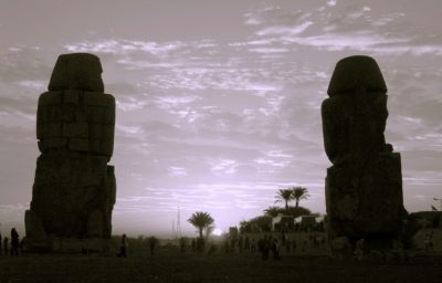 Colossi of Memnon at solstice sunrise