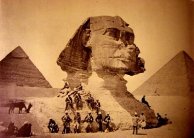 early picture of the Sphinx at Giza