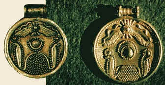 Motya and Carthage (Lancel) gold brooches